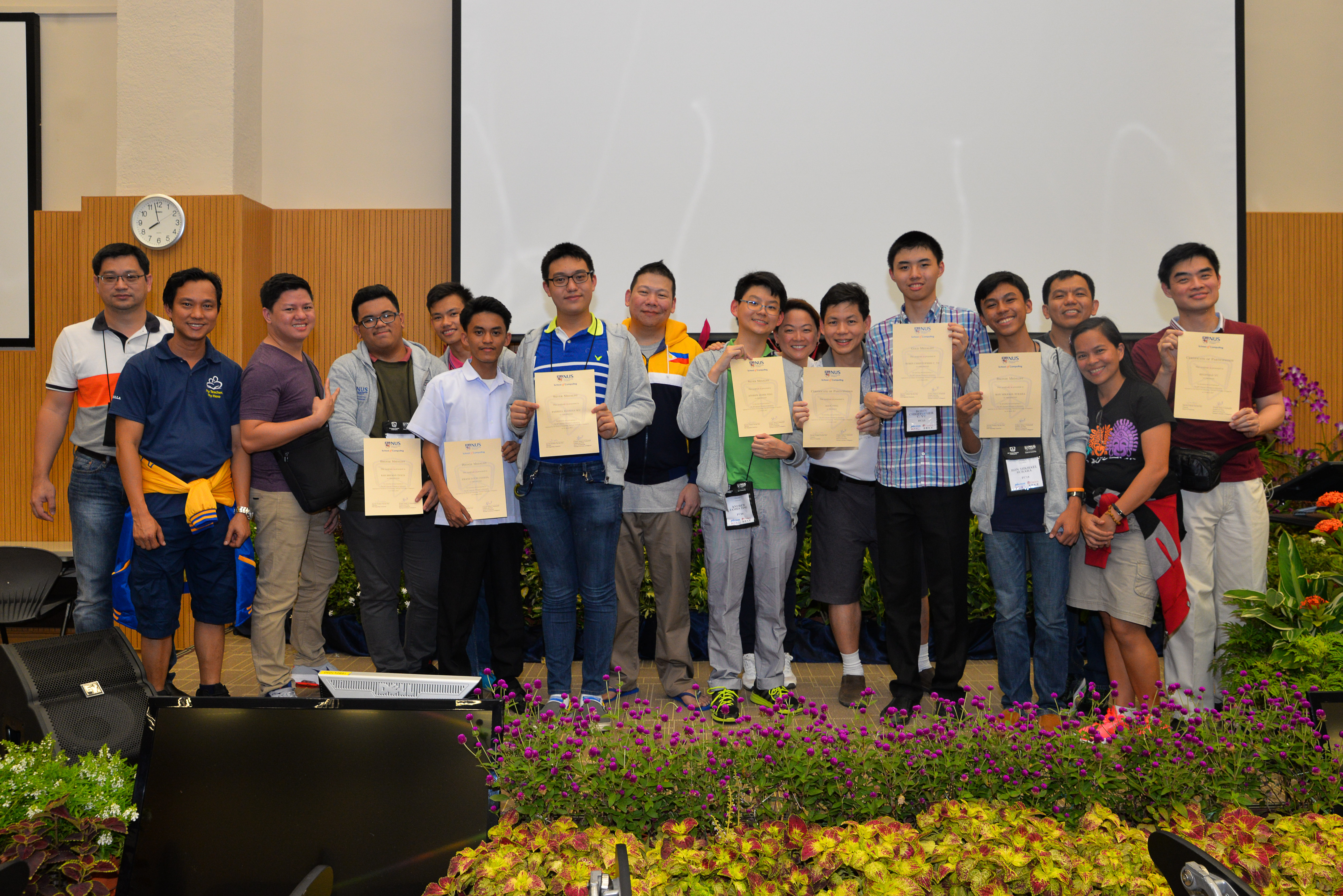 Philippine team to Singapore Informatics Olympiad all bag medals